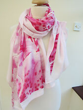 NEW!!TED BAKER Encyclopaedia Floral Print Split Long Scarf -PRETTY slight second