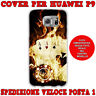 CUSTODIA COVER CASE MORBIDA IN TPU PER HUAWEI ASCEND P9 FANTASIA POKER D'ASSI