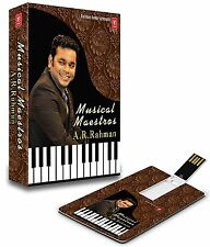 MUSICAL MAESTROS A R RAHMAN USB MUSIC CARD/ 140 SONGS / WORKS ON ALL USB