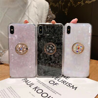 Diamond Ring Holder Crystal Marble Phone Case Cover For iPhone 11 Pro XS Max XR