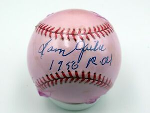 Sam Jethroe - Cleveland Buckeyes Negro League - 1950 ROY - Autographed Ball