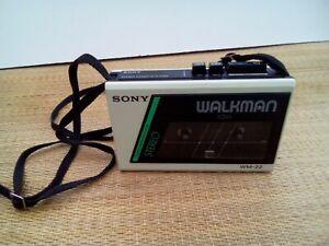 Sony Walkman WM22 white 1980's with strap