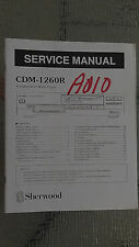 sherwood cdm-1260r service manual repair book stereo compact disc cd player part