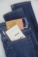 RRP $220 ACNE STUDIOS PEG MID BLUE Women's W27/L30 Blå Konst Skinny Jeans 6275_