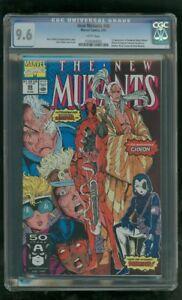 CGC 9.6 NEW MUTANTS #98 MARVEL COMICS 1ST APPEARANCE DEADPOOL WADE WILSON 2/1991