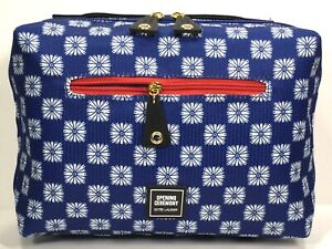 Estée Lauder Opening Ceremony Cosmetic Toiletry Bag Blue, Red & White