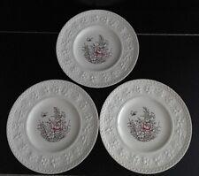 "Wedgwood Wellesley ""Tintern"" Vintage Set Of 3 Luncheon Plates"