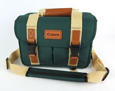 Vintage Canon Camera Bag Organizer Green Pockets Shoulder Strap DSLR Case 12x7x8