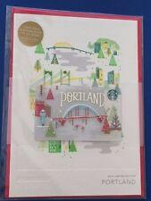 NEW 2016 PORTLAND Lmtd Christmas Holiday Starbucks Greeting Gift Card w/$0 bal