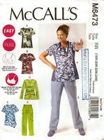 WOMEN'S McCalls Pattern M6473 PULLOVER TOP PANTS 18W 20W 22W 24W UNCUT NEW