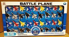 36 PC Fighter Jet modello BATTAGLIA GUERRA Piani Bambini Giocattolo Gioco Set Regalo Confezione