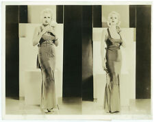 ANITA PAGE Orig 10x13 Oversize 1932 Fashion Photo Evening Dress Double Image DBT