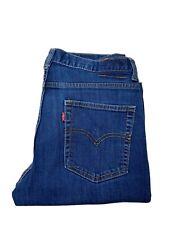 Levis 502 Jeans Boys 18 Regular Dark Wash  Taper High Rise Stretch Denim Pants