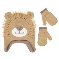 PEAK 2 PEAK Girls Boys Lion Winter Hat And Mitten Set Toddler size