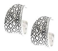 Wildlife by Heidi Klum Animal Instinct Hoop Earrings - Silvertone- QVC