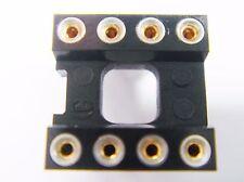 DIL8 Sockel Fassung Präzision gedrehte Kontakte Gold #9U21%