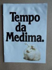 Depliant Pubblicitario MEDIMA maglieria lana con campione 1981  [D39]
