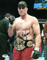 RANDY COUTURE SIGNED AUTOGRAPHED 8x10 PHOTO + THE NATURAL MMA UFC LEGEND PSA/DNA