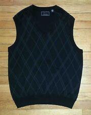 1402c Black Diamond Design M GREG NORMAN Sleeveless Golf Sweater Vest!