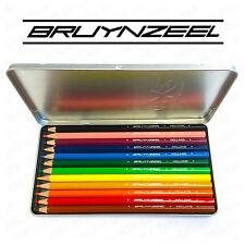 BRUYNZEEL MXZ - 12 matite colorate - in argento IN METALLO LATTA
