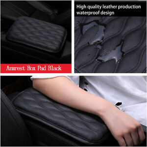Waterproof Car Armrest Pad Cover Center Console Box Leather Cushion Armrests Pad