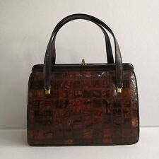 NB Vintage Genuine Crocodile Leather Patchwork Handbag: On Sale