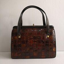 NB Vintage Genuine Crocodile Leather Patchwork Handbag