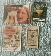 Lot 9 Vintage Alcohol Bar Recipe Booklets Bacardi,Southern Comfort,Cordials,More