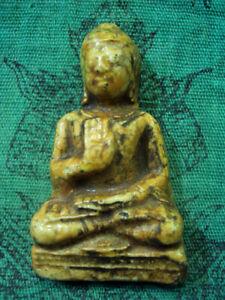 Phra Buddha Porcelain Teaching Dvaravati Ancient Khmer Old Thai Spiritual Amulet
