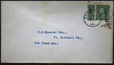Cover - True One Cent Bisect to 1 1/2 Ct 3rd Class Mail rate - Chase Va S22