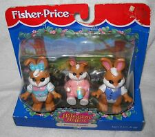#2754 Nrfb Vintage Fisher Price Hideaway Hollow Bunny Family
