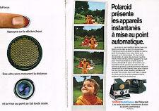 PUBLICITE  1978   POLAROID SONAR  AUTO FOCUS  ( 2 PAGES)