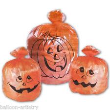3 x Arancio Zucca di Halloween Prato Bidone Della Spazzatura Sacchetti Decorazioni Da Giardino