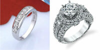 """Stainless Steel """"Real Love"""" Heart Couples Promise Engagement Ring Wedding Band"""