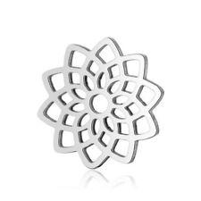 Wholesale 10pcs/lot Stainless Steel Lotus Little Charm Flower Connectors for DIY