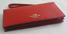 Coach Carmine/Dahlia Colorblock Leather Slim Wallet Wristlet Coin Pocket 53759