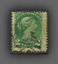 CANADA, SCOTT #36  1872 - 2c, QUEEN VICTORIA, FINE USED (2,4 x 2,2 cm)