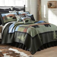 Donna Sharp Bear Lake Quilted Country Cotton King 4-Piece Bedding Set
