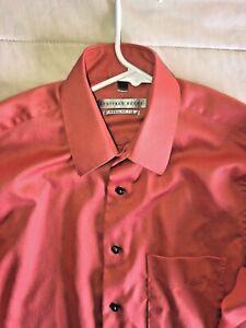 Mens Jeoffrey Beene Long Sleeve Dress Shirt Melon Color 14 1/2  by 32/33
