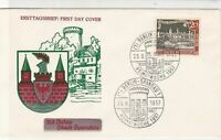Berlin 1957 FDC Double Berlin Castle Cancel  Stamps Cover ref 22258