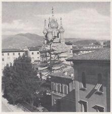 D3363 Firenze - Veduta della Chiesa Russa - Stampa d'epoca - 1940 vintage print