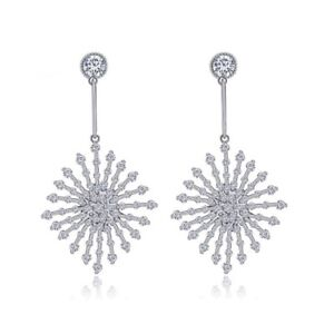 Made With Swarovski Crystals The Poppy Silver Starburst Earrings $122 S3
