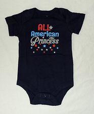 New Baby Girl American Princess One Piece 0 thru 18 M USA Patriotic 4th July