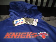 MENS MAJESTIC NEW YORK KNICKS HOODIE SIZE 4XL BIG AND TALL  BLUE/GRAY  NWT