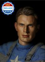 1/6 scale Chris Evan Captain America Head Sculpt for 12'' figure body