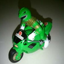 Fujifilm Green Power Ranger on Motor Bike Cycle Toy Pull Back Release Movable