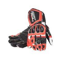 Guanti rossi con protezione palmo per motociclista palmo