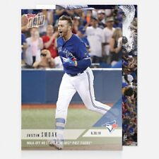 2018 TOPPS NOW #387 WALK-OFF HR LEADS BLUE JAYS PAST TIGERS JUSTIN SMOAK