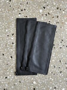 BUGABOO CAMELEON 3 REAL  LEATHER HANDLE BAR / BELLY BAR COVERS (BLACK Smooth)