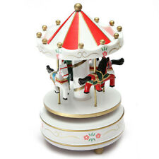 Musical carousel horse wooden carousel music box toy child baby White game M2Q9